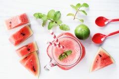 Zdrowy arbuza napój Fotografia Royalty Free