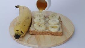 Zdrowy całej banatki chleb z bananem i miodem zbiory