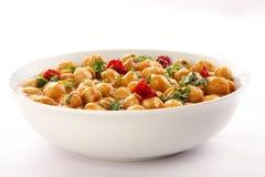 Zdrowy chickpea curry'ego naczynie Fotografia Royalty Free