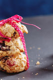 Zdrowy ciastka zakończenie Zdjęcia Stock
