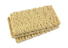 Zdrowy crispbread odizolowywający na białym tle Crispy żywienioniowy sprawność fizyczna chleb obraz royalty free