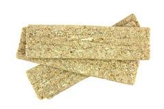 Zdrowy crispbread odizolowywający na białym tle Crispy żywienioniowy sprawność fizyczna chleb obrazy stock