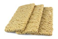 Zdrowy crispbread odizolowywający na białym tle Crispy żywienioniowy sprawność fizyczna chleb Jedzenie dla ciężar straty zdjęcie royalty free