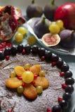 Zdrowy czekoladowy tort Zdjęcie Royalty Free