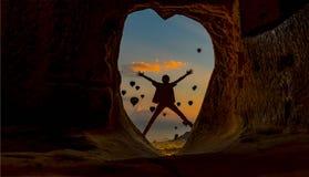 Zdrowy, dynamiczny i energiczny wschód słońca, fotografia royalty free
