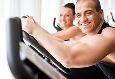 zdrowy gym veloargometer obrazy stock