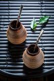 Zdrowy i aromatyczny yerba szturman dla dwa zdjęcia royalty free