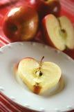 zdrowy jabłka serce Zdjęcia Royalty Free