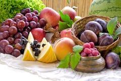 Zdrowy jarski jedzenie - jeść świeżego organicznie owoc i warzywo Zdjęcie Stock