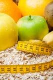 Zdrowy jedzenie, świeże organicznie owoc w diecie Zdrowy śniadaniowy Abstrakcjonistyczny tło Zdjęcie Royalty Free