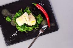 Zdrowy jedzenie, dekatyzująca ryba fotografia royalty free