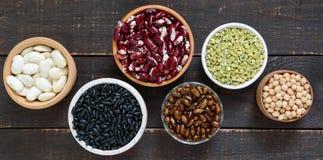 Zdrowy jedzenie, dieting, odżywiania pojęcie, weganin proteiny źródło obraz royalty free