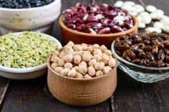 Zdrowy jedzenie, dieting, odżywiania pojęcie, weganin proteiny źródło fotografia stock