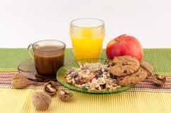 Zdrowy jedzenie i kawa Zdjęcie Stock