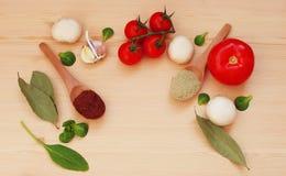 Zdrowy jedzenie i składniki Obrazy Stock