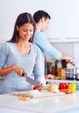 Zdrowy jedzenie kucharz Obraz Royalty Free