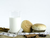 Zdrowy jedzenie na białym tle Zdjęcia Stock