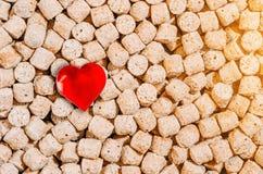 Zdrowy jedzenie, otrębiasty tło i serce symbol, Zdjęcia Stock