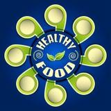 Zdrowy jedzenie, wektorowa ilustracja Fotografia Royalty Free