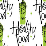 Zdrowy jedzenie wzór z asparagusem Obraz Royalty Free