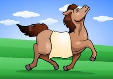 zdrowy koń na natury tle ilustracji