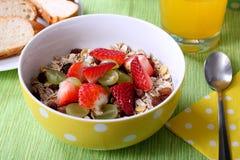 Zdrowy kolorowy śniadanie Obrazy Stock
