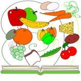 zdrowy książka kucharska kucharstwo royalty ilustracja