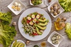 Zdrowy lunchu talerz Obrazy Stock