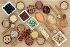 Zdrowy Makrobiotycznej diety jedzenie fotografia royalty free
