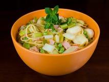 zdrowy miski makaronu Fotografia Stock
