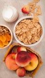 Zdrowy śniadanie na tablecloth Fotografia Royalty Free