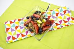 Zdrowy śniadaniowy muesli, muesli, owoc Zdjęcie Royalty Free