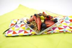Zdrowy śniadaniowy muesli, owoc Fotografia Stock