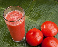 Zdrowy odświeżający pomidorowy sok Obraz Stock