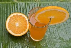 Zdrowy odświeżający sok pomarańczowy Fotografia Royalty Free