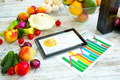 Zdrowy odżywianie i oprogramowania przewodnictwo obraz stock