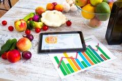 Zdrowy odżywianie i oprogramowania przewodnictwo fotografia royalty free