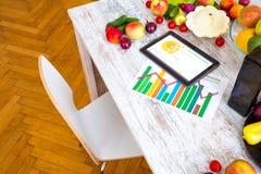 Zdrowy odżywianie i oprogramowania przewodnictwo Obrazy Stock