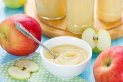 Zdrowy organicznie applesauce Zdjęcia Royalty Free