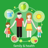Zdrowy rodzinny pojęcie Fotografia Royalty Free