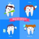 Zdrowy rodzinny ząb Zdjęcie Stock