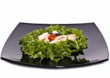 Zdrowy rybi polędwicowy z warzywami obraz stock