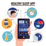 Zdrowy sen App projekta pojęcie royalty ilustracja