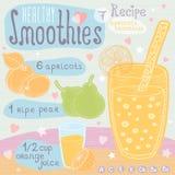 Zdrowy smoothie przepisu set Obrazy Stock