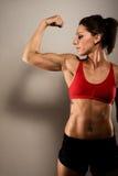 Zdrowy Sprawności fizycznej Kobiety TARGET82_0_ zdjęcia stock