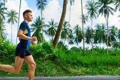 Zdrowy Styl życia Jogger bieg Sporty biegacza mężczyzna Jogging Sp obraz stock