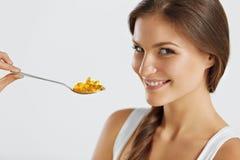 Zdrowy Styl życia odżywczy witaminy zdrowe jeść Kobiet Wi Obraz Royalty Free