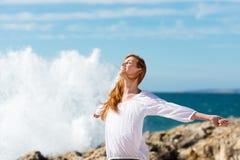 Zdrowy styl życia przy morzem Obrazy Stock