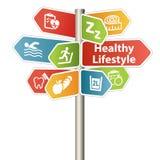Zdrowy stylu życia znak royalty ilustracja