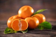 Zdrowy surowy mandarynek owoc tło Obraz Royalty Free